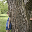Girls Playing Hide-and-Seek — Stock Photo #33864679