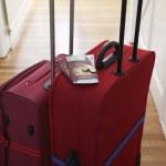 Suitcases standing in hallway — Stock Photo