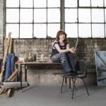 Painter in Studio — Stock Photo #33868345