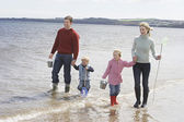 Parents with children walking — Stock Photo
