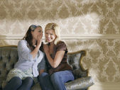 Young Women Whispering — Stock Photo
