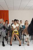 Audience Applauding — Stockfoto