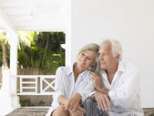 Senior couple sitting — Stock Photo