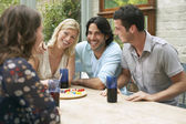 Friends Playing Board Game — Stock Photo