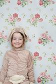 Mädchen im bunny-kostüm — Stockfoto