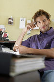 Man Working at Desk — Stock Photo