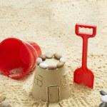 Sand castle on beach — Stock Photo #33871679