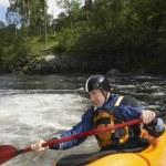 Kayaker in Rapids — Stock Photo #33879793