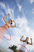 Teenage girls  playing — Stock Photo