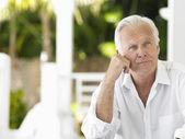Senior man  smiling — Stock Photo