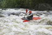 Kayaker in Rapids — Stock Photo