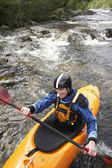 Kayaker on River — Stock Photo