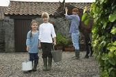 Children Holding Pails — Stock Photo