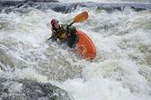 Kayaker in Rapids — Stock Photo