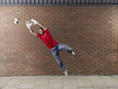 Goalkeeper Saving Ball — Photo
