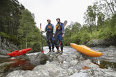 Kayakers in Rapids — Stock Photo