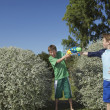 Boys playing with water pistols — Stock Photo #33881141