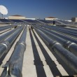 Stock Photo: Pipes at Solar Power Plant