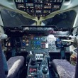 Stock Photo: Empty aeroplane cockpit