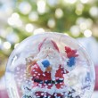 Snow dome with Santa — Stock Photo #33887407