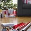 Stock Photo: Wrapping paper and accessories
