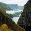 Stock Photo: Early autumn view of fjord