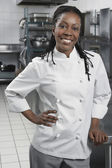 Chef with hand on hip — Stock Photo