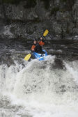 Whitewater Kayaker in Rapids — Stock Photo