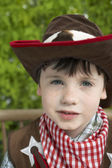 Boy Dressed Up as Cowboy — Stock Photo