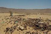 Garbage Dump in Desert — Stock Photo