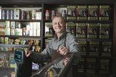 Tea Shop Owner smiling — Stock Photo