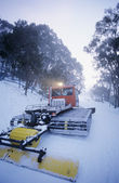Snow clearing tractor — Stockfoto