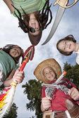 Children wearing costumes — Stock Photo
