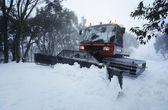 Snow clearing tractor — Stock Photo