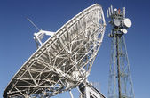 Telecommunications satellite dish — Stock Photo