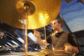 Drummer Performing — Stockfoto