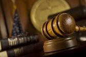 Gavel in court room — Stock Photo
