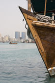 Old wooden dhow — Stock Photo