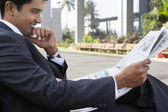 Businessman reading — Stock Photo
