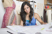 Designer working at desk — Stock Photo
