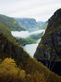 Early autumn view of fjord — Stock Photo