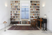 Library of restored town house — Stock Photo