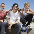 Teenage boys with skateboards — Stock Photo #33890505