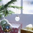Stock Photo: Ornaments on christmas tree