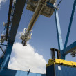 Stock Photo: Dockside crane.