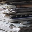 Stack of newspapers — Stock Photo #33893289