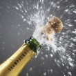 Champagne bottle popping cork — Stock Photo #33893865