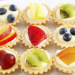 Stock Photo: Selection of mini fruit cupcakes