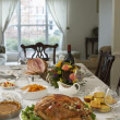 Thanksgivig dinner on table — Stock Photo