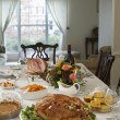 Thanksgivig dinner on table — Stock Photo #33894501
